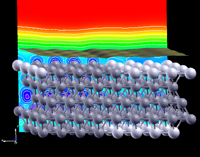 STM image of an AgPd alloy surface